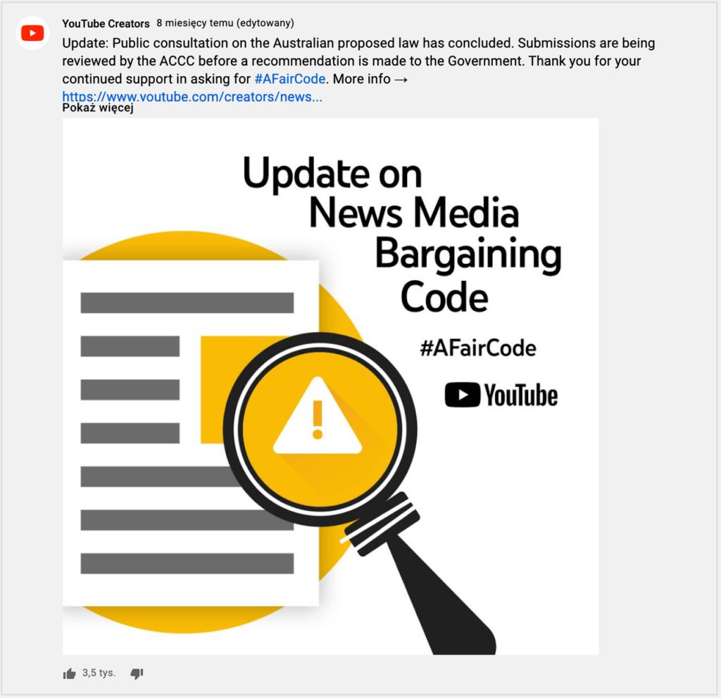obrazek przedstawiający możliwość umieszczenie grafiki wpoście
